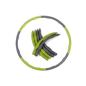 1.8kg weight hoops six parts Factory Custom Detachable PP Plastic Hula Hoop, Hula Hoop Fitness