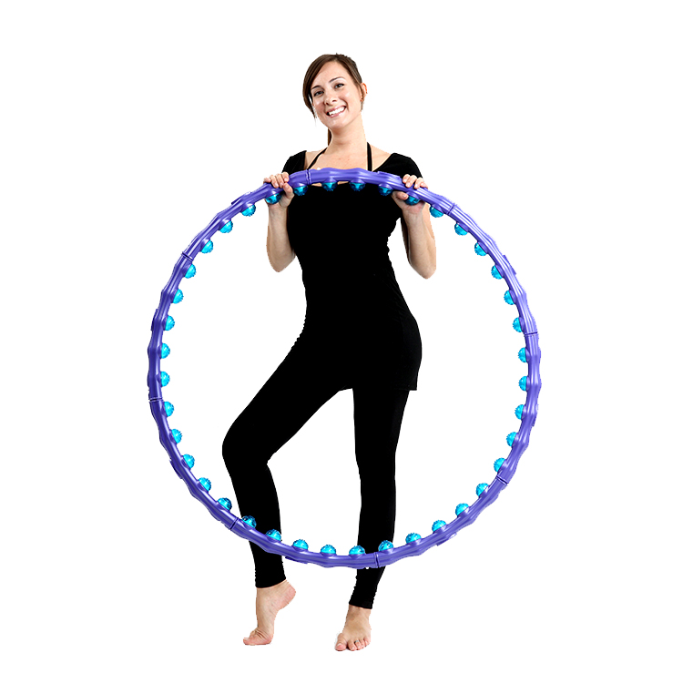 Ibort Magnetic Health Hula Hoop,Adjustable 8 Detachable Sections Weight Loss Fitness Hula Hoop  WH-003 Featured Image