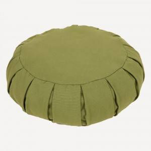 Round Meditation Pillow Filled with Buckwheat h...