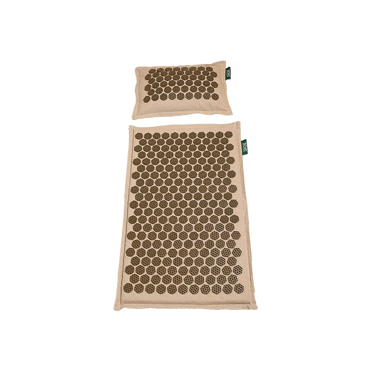 Natural linen Acupressure Mat/Yoga Foot Plastic Spikes Massage Acupressure mat Featured Image