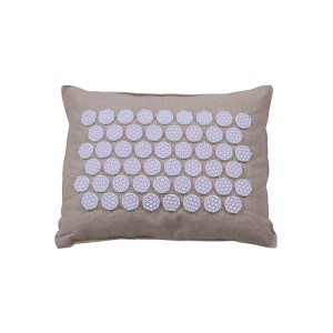 New Design Linen Fabric Neck and Shoulder Massager Relaxer Pain Relief Acupressure Massager Pillow