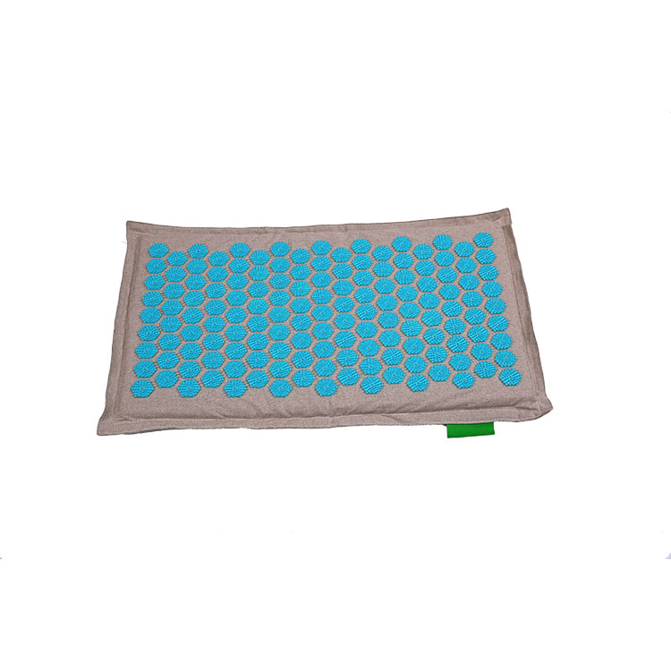 Top Quality Eco digitopressione Massage Mat Natural Organic Cotton Biancheria schiena e al collo, Mat Agopuntura