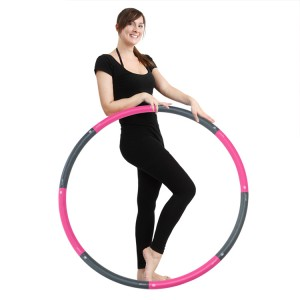 Walk Diary Hot Waist Hula Hoop – Hula Hoops for Adults, Easy to Assemble, Burning Fat, Wave Ergonomic Designed Hula Hoop