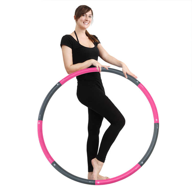 Walk Diary Hot Waist Hula Hoop – Hula Hoops for Adults, Easy to Assemble, Burning Fat, Wave Ergonomic Designed Hula Hoop Featured Image
