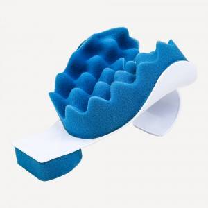 Wave shaped sponge neck support multi-level neck extension device, blue sponge can be replaced, neck massager