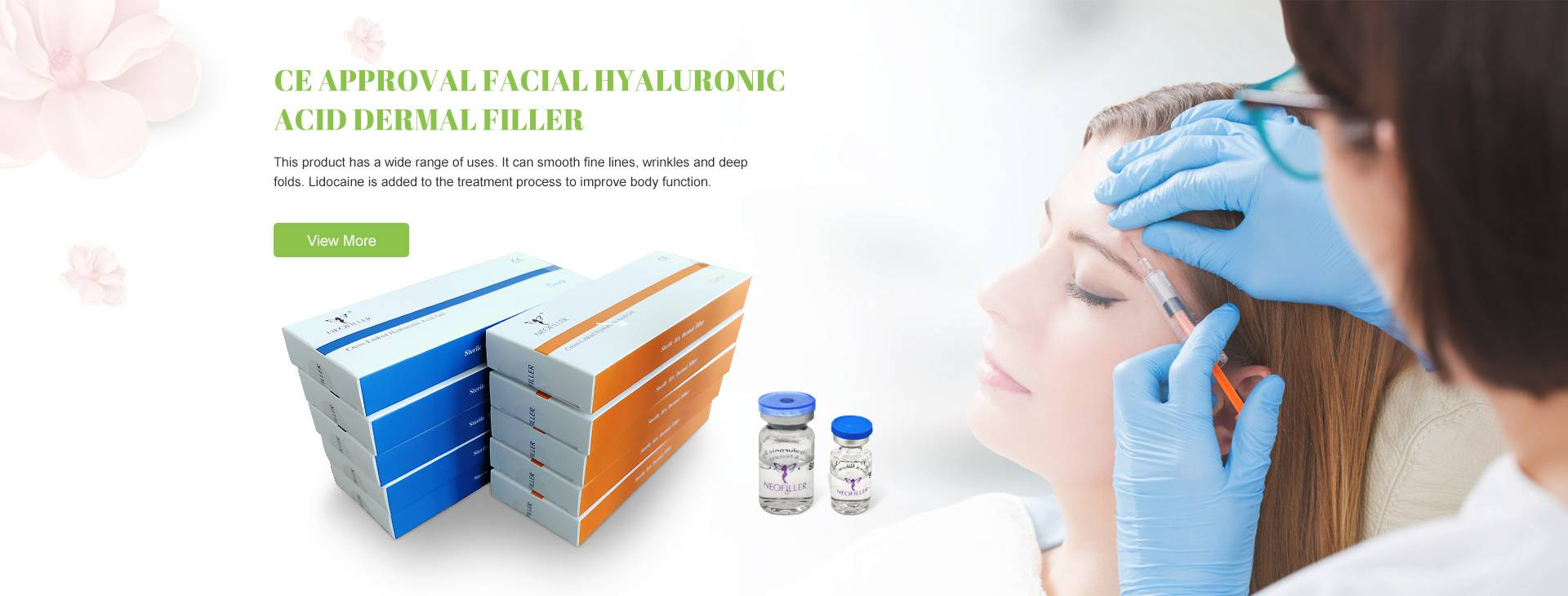 CE Goedkarring Facial Hyaluronic Acid Dermal filler