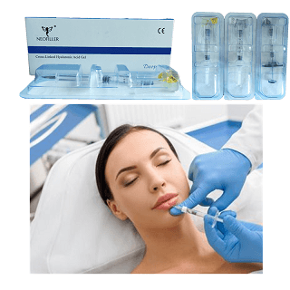 Beauty step of the injection of Neofiller hyaluronic acid dermal filler