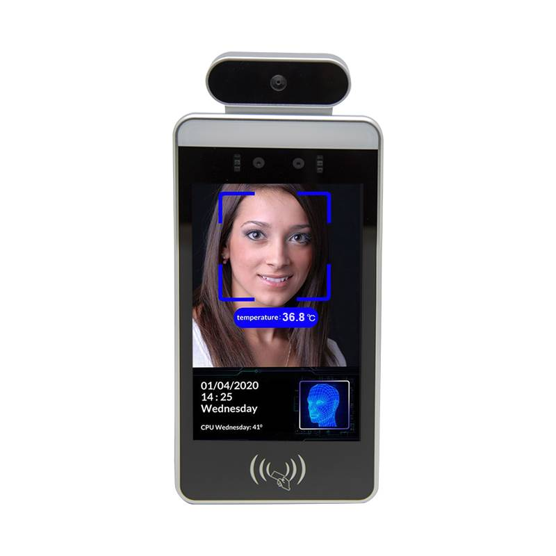 Temperature Turnstile Mask Facial Recognition Thermometer Dual Camera Access Control