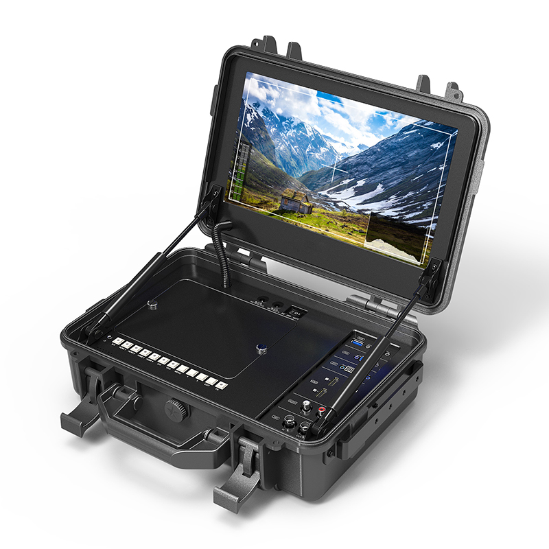 12.5 inch Portable Suitcase 4K Broadcast Director Monitor