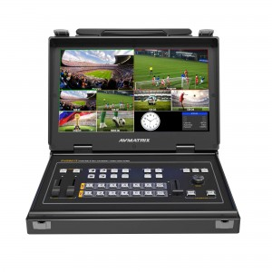 AVMATRIX PVS0613 Portable 6CH SDI/HDMI Multi-format Video Switcher with 13.3 inch Monitor