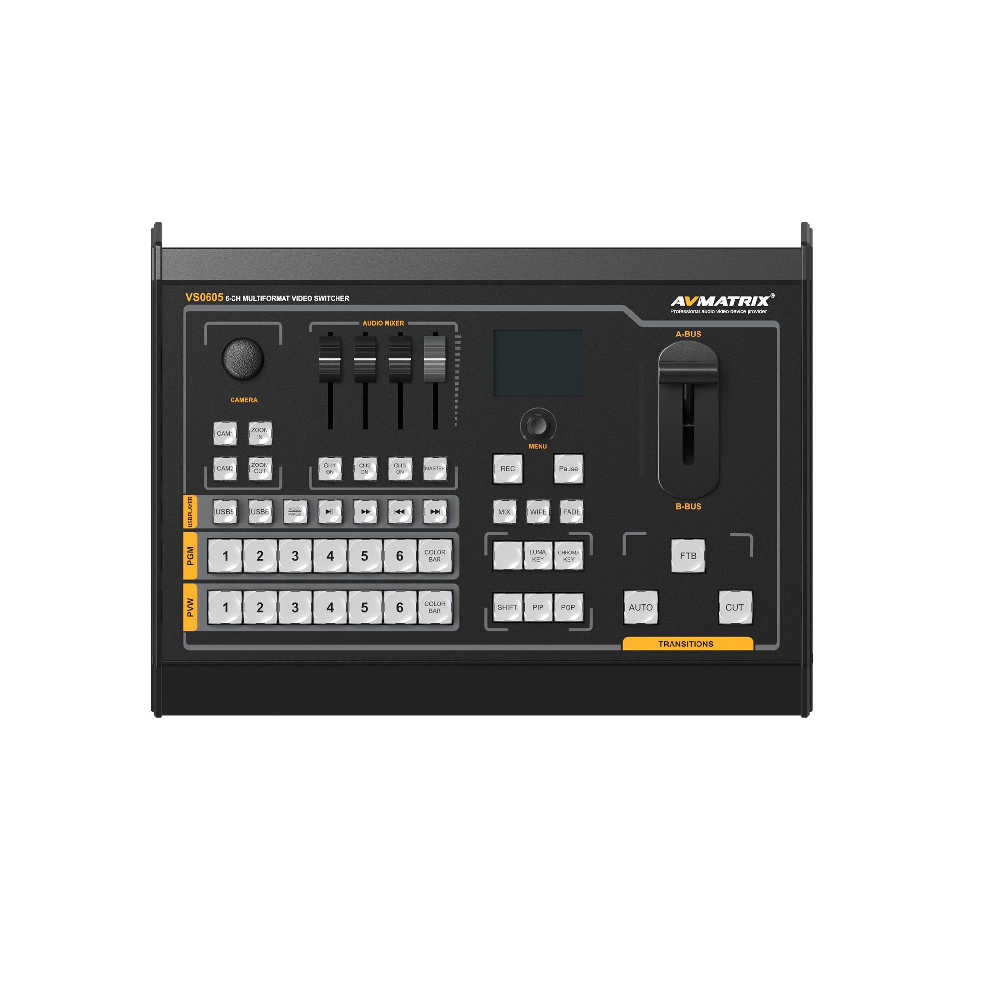 AVMATRIX VS0605 6CH SDI/HDMI Multi-format Video Switcher with Recorder
