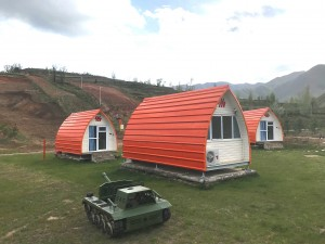 Funky Camping Glamping Pod(Fully Insulated, Electrics, Bathroom, Kitchen, Beds)