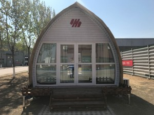 4m x8m Cheap dome home/mobile tiny house/china modular arched cabin