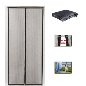 Magnetic Mesh Bug Screen Door Strong Magnets Insect Screen Curtain.