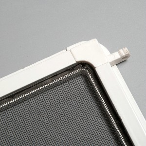 Fixed insect screen door with accessories and aluminum frame,screen door with mosquito screen