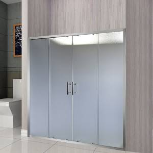 Two Fixed Two Line Shape Sliding Shower Enclosure