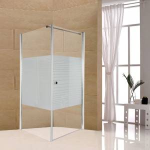 One Fixed One Rectangle Pivoting Shower Enclosure
