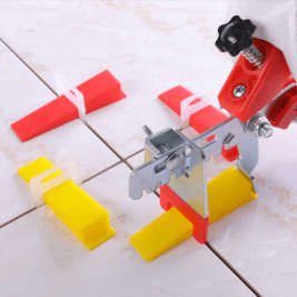 Plastic tile spacer tile Leveling system reusable tile Red wedge