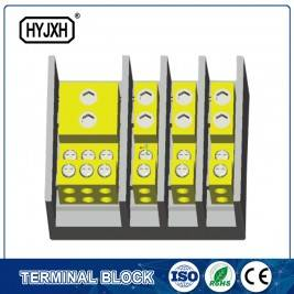 (hole insertion type)  Three phase four wire large current high temperature multichannel output connection terminal block for measurement box