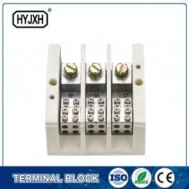 lug connection type Three phase three wire large current high temperature multichannel output connection terminal block for measurement box