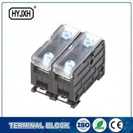 Din rail combination type Single phase Two inlet,multi-outlet  connection terminal block for metering box