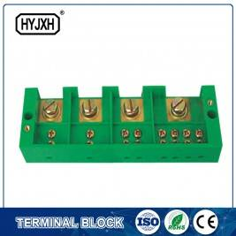 Three phase four wire connection terminal block for metering box