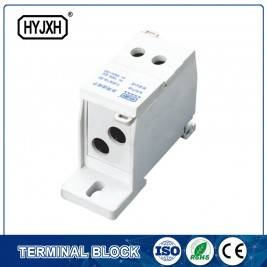 FJ6S-1 two-inlet multi outlet DIN rail  type  connection terminal block(elaborate type) inlet wire : 10-35 mm sq