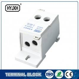 FJ6S-1 two-inlet nga multi-outlet DIN riles type nga koneksyon terminal block (masalimuot nga tipo) inlet wire: 25-70 mm sq inlet wire: 10-35 mm sq