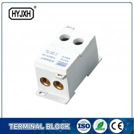 FJ6S-1 two-inlet multi outlet DIN rail  type  connection terminal block(elaborate type)inlet wire : 50-120 mm sq