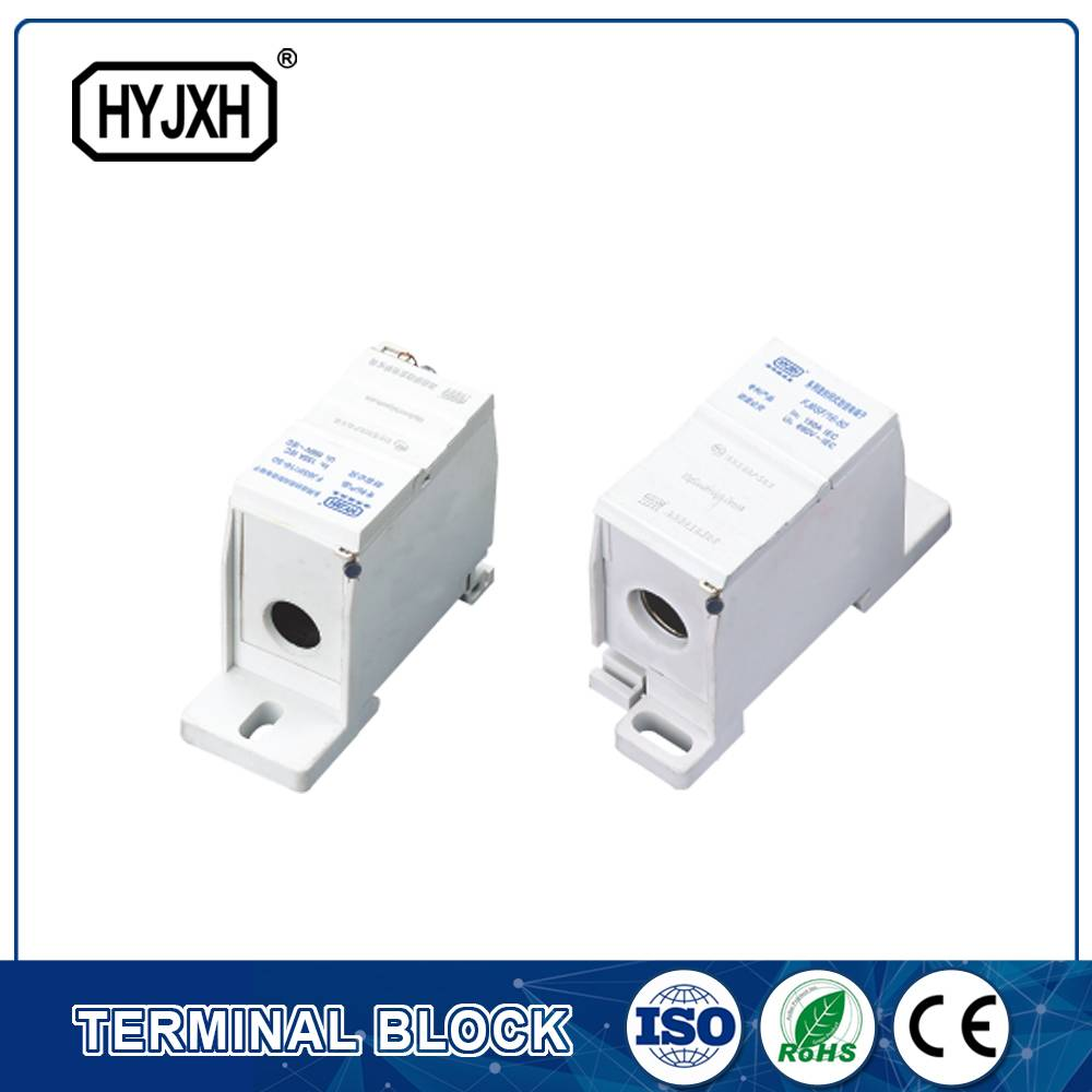 FJ6SF-1 series one-inlet multi-outlet DIN rail connection terminal block(elaborate type)inlet wire : 16-50 mm sq