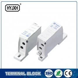 FJ6SF-2 series two-inlet multi-outlet DIN rail connection terminal block(elaborate type)inlet wire : 6-25 mm sq