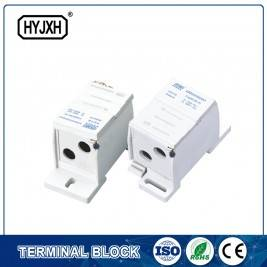 FJ6SF-2 series two-inlet multi-outlet DIN rail connection terminal block(elaborate type)inlet wire : 25-70 mm sq