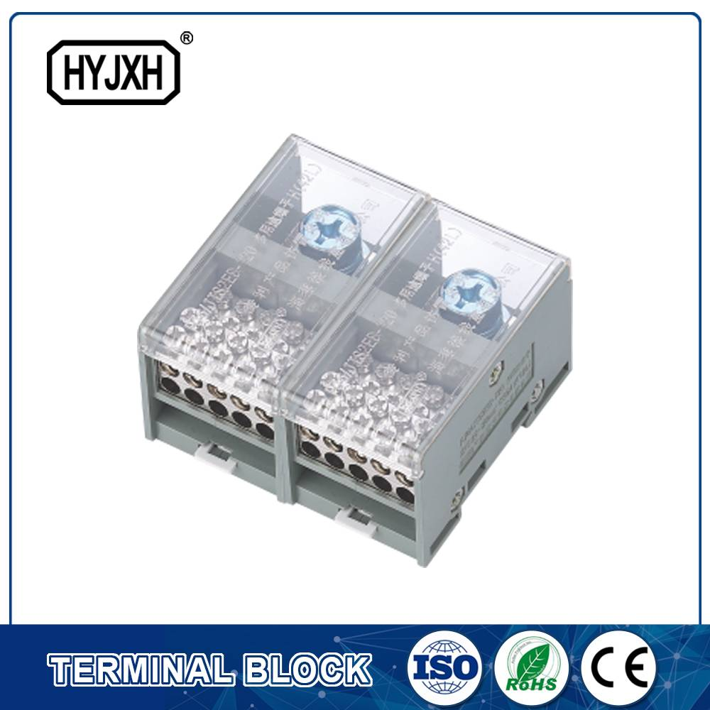 FJ6-JTS2EB Single phase DIN rail type connection terminal   max inlet wire : 120,150 mm sq