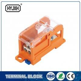 DIN rail type Multi-purpose terminal block, Max inlet diameter 70 SQMM(connect nasal type)
