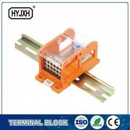 DIN rail type Multi-purpose terminal block, Max inlet diameter 240 SQMM(connect nasal type)