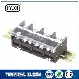 Din rail type combination four-inlet multi-outlet connection terminal block