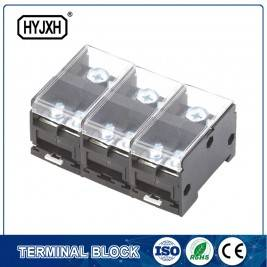 Din rail type combination three-inlet multi-outlet connection terminal block