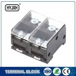 Din rail type combination two-inlet multi-outlet connection terminal block