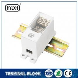 FJ6Q-2 din rail type self-elevating Power Distribution ferbining terminal blok
