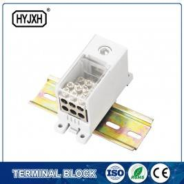 FJ6Q-3 din rail type self-elevating Power Distribution ferbining terminal blok