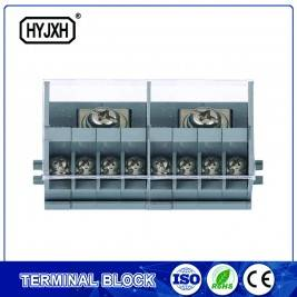 din rail type combination two-inlet multi-outlet single phase connection terminal block for metering box
