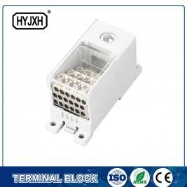 FJ6Q-4 din rail type self-elevating Power Distribution ferbining terminal blok