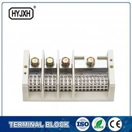 lug connection type Three phase four wire large current high temperature multichannel output connection terminal block for measurement box