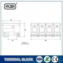 2017 Good Quality Din Rail Enclosure 116*116*21mm -