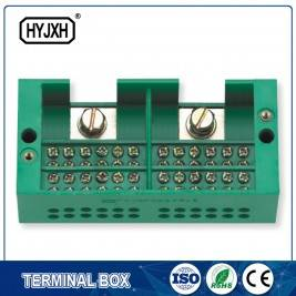 Two inlet,multi-outlet connection terminal block for metering box