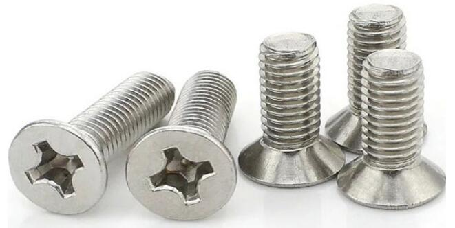 Stainless Steel 316 304 201 DIN963 Countersunk Head Phillips Machine Screw