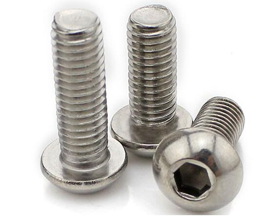 Paslanmaz Hex Socket Button DIN7380 Baş Machine Screw