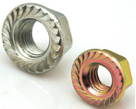 Zinc Plated Hex Flange Nut with Serrated