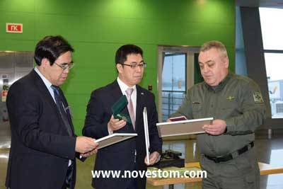 China assisted Ukrainian ambassador to provide NOVESTOM'S Body Worn Camera and Docking Station to border defense law enforcement workers