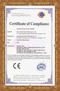 CE certificate for NVS7 wifi police body camera